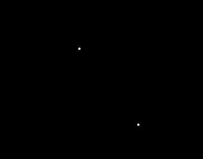 Modèle simplifié d'un cristal de silicium montrant la création d'électrons et de trous.