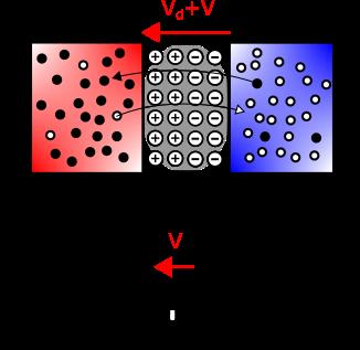 jonction PN polarisée en inverse