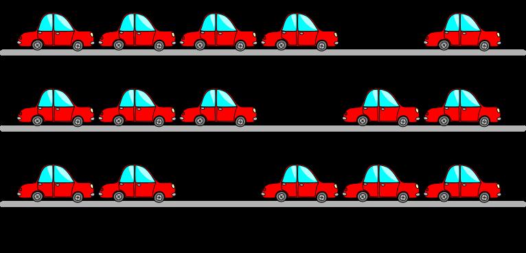 Modele du bouchon de voitures pour expliquer la conduction de trous.