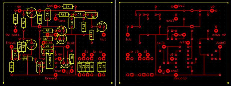 Agencement des composants sur le perfboard pour gagner de la place sur la RAT.
