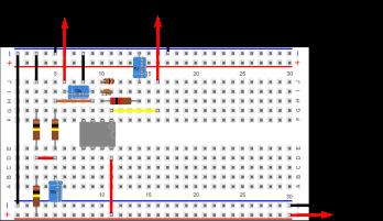 ... puis on finit en ajoutant les 2 connecteurs jack et le connecteur pour pile 9