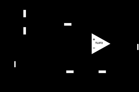 Schéma électrique de la pédale de boost que nous allons monter dans cet article.