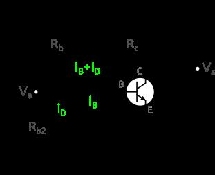 Figure 5 : montage émetteur commun avec stabilisation par diode.