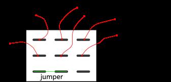 Figure 11 : câblage de l'interrupteur 3PDT.