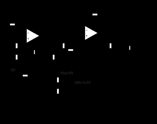 Figure 7 : mon circuit de pédale wha wha avec circuit gyrateur et alimentation avec une seule pile 9 V.