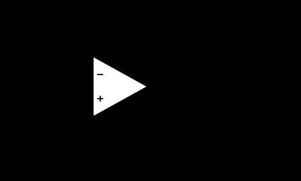 Figure 5 : à gauche, circuit gyrateur. À droite : son circuit équivalent, d'inductance L=R1xR2xC1 en série avec une résistance R1..