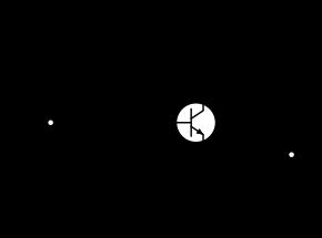 Circuit à transistor bipolaire en montage collecteur commun.