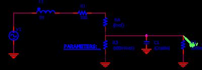 Circuit utilisé pour la simulation PSPICE.