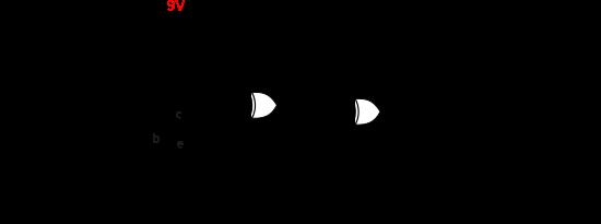Circuit électrique du Digital Octaver Fuzz (reproduis d'après la référence [1]).