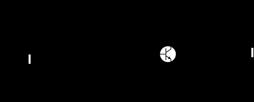 Schéma électrique utilisé pour fabriquer le boost à transistor bipolaire. L'amplification est réalisée en utilisant la configuration émetteur commun.
