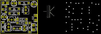 One Knob Noise Gate modifié pour transitor bipolaire : PCB et typon à l'échelle.
